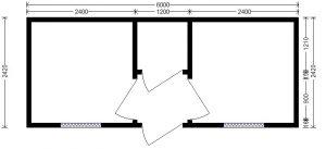 планировка блок-контейнера